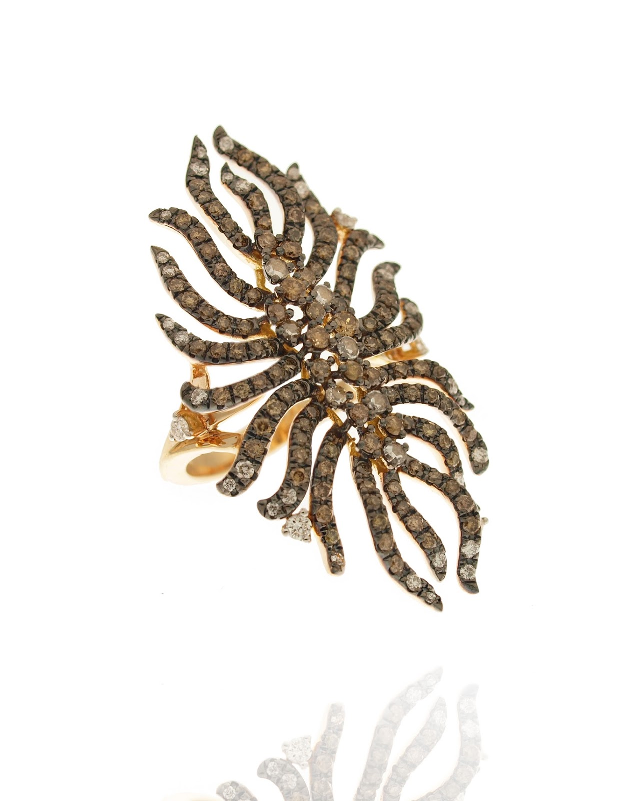 CASATO Aquarius Ring 18Ktpinkgold Diamonds