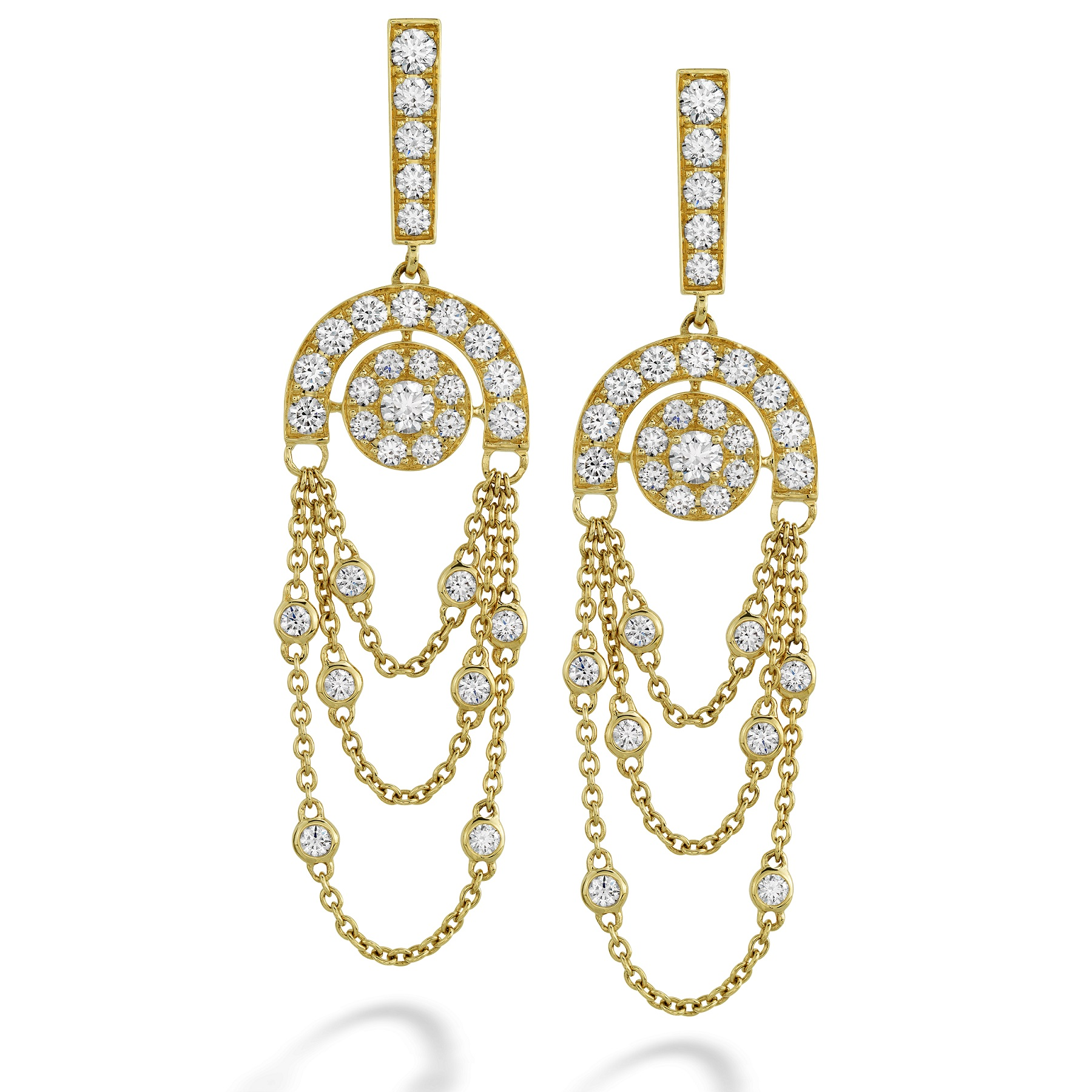 Inspiration Chandelier Earrings Yellow Gold 1